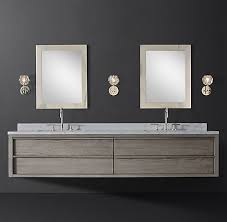 + more finishes. Bezier Double Extra-Wide Floating Vanity