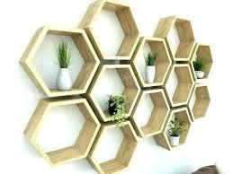 china hexagon wall shelf wood