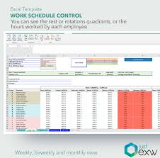 Shift Plan Work Schedule Control Premium Template