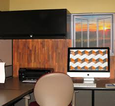 office cubicle wallpaper. Decorate Your Cubicle With Our Easy-stick Wallpaper Wood Design And Window View From Dream Office L