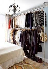 Open closet idea for bedroom without a closet Master bedroom ideas