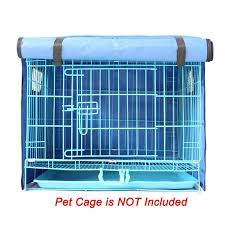2018 pet dog crate cover waterproof and windproof oxford outdoor kennel cage mat for pet puppy cats cage blanket 4 sizes without cage from nanfang2016
