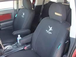 black duck seat covers to fit toyota fj cruiser black denim shown