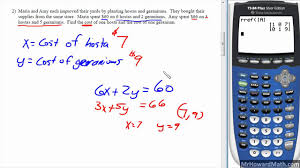 solving linear systems word problems