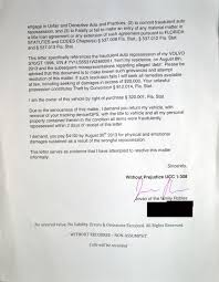 Julian S Demand Letter Response To Fraudulent Car Repossesion