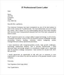 Information Technology Cover Letter Examples Collection Of Solutions