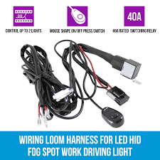 wiring loom harness for led hid fog spot work driving light 12v 40a wiring loom harness for led hid fog spot work driving light 12v 40a switch relay