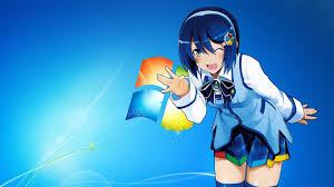 Microsoft home screen with anime HD ...