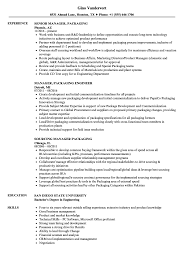 Packing Resume Sample Manager Packaging Resume Samples Velvet Jobs 11
