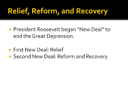 conclusion new deal compare and contrast the first and second 2 relief