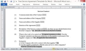 Learn what is a loan agreement form and what should be included in one. Free Service Agreement Template For Word