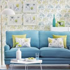 Blue And Green Living Room decorating with spring colours 1065 by xevi.us