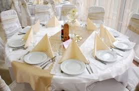 Round Table Decoration Wedding Table Decorationround Stock Photo Picture And Royalty
