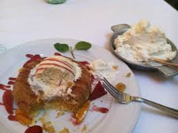 Warm Butter Cake With Homemade Whipped Cream Picture Of Mastros