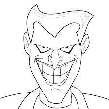 Disegno Di Joker Da Colorare Per Bambini Com Con Maschera Di Batman