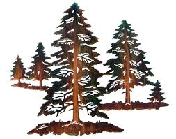 metal pine tree wall art