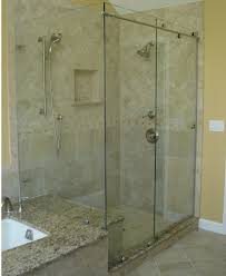 clear glass frosted shower doors
