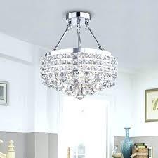 flush mount lighting crystal semi flush mount drum light drum round shade chrome 4 light crystal flush mount lighting crystal chrome