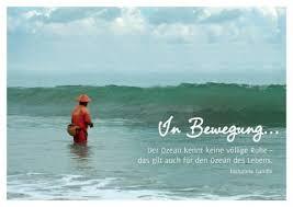 Poetische Postkarte Der Ozean Kennt Keine Völlige Ruhe Das Gilt
