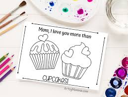 Click the cupcake coloring pages to view printable version or color it online (compatible with ipad and android tablets). Cute Card Ideas For Mom To Print And Color Cupcakes Donut Lollipops