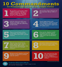 Ten Commandments Of Web Design Scottish Catholic Education Service Sces 10 New Commandments