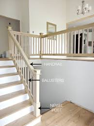 Our House Makeover: Part The Hardwood Stairs and Entryway Makeover (a  mini-update before we paint the stair rail)! Pinned for the stair rail