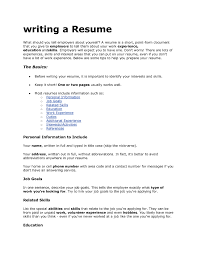 Examples Of Resumes Amazing How To Write Brefash Within 79