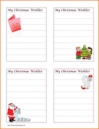 christmas list template word spreadsheet for bills christmas list template word christmas list template christmas wish list 4 cards jpg