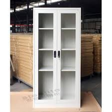 glass front storage cabinets storage cabinet with glass doors