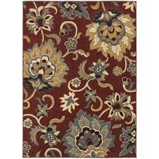 oriental weavers stratton 6034c red gold area rug