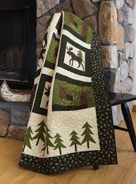 Moose in the Cabin Quilt Kit | quilt crafts | Pinterest | Moose ... & Moose in the Cabin Quilt Kit Adamdwight.com
