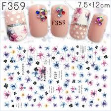メルカリ F359ネイルシール 花 フラワー 水彩 ピンク ブルー