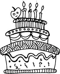 How To Draw A Birthday Cake Cartoon Vidhicardscom