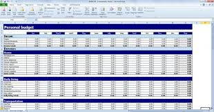examples of personal budgets budget templates excel expin zigy co