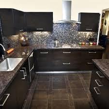 Kitchen floor tiles Cream Blue Pearl Counter Glass Mosaic Kitchen Backsplash Tile Gallery Kitchen Flooring Wall Tile Ideas