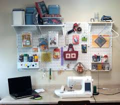 White Peg Board Furniture Fascinating Craft Room Decoration With  Rectangular Home Improvement White Pegboard Hooks