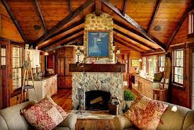 Log cabin interiors designs Homes Cozy Cabin Living Room Log Cabin Hub 22 Luxurious Log Cabin Interiors You Have To See Log Cabin Hub