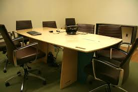 sustainable office furniture. these large flatpack tables are also set up as meeting for the executives sustainable office furniture