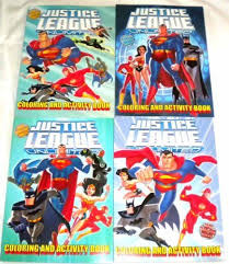 4 Justice League Unlimited Color Activity Book With Free 24pc