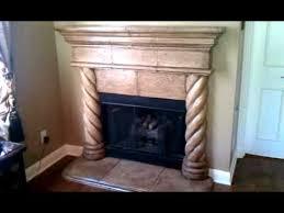 cast stone fireplace paint and antique glaze