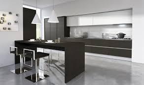 Superb Diseño De Cocina Pequeña De Color Negro Y Blanco