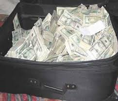 Image result for suitcase full of money