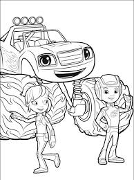 Blaze Gabby Aj Blaze And The Monster Machines Coloring Pages