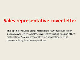 Area Sales Representative Cover Letter Cover Letter For Medical