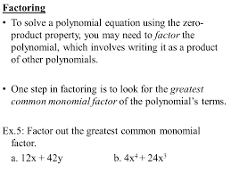 4 factoring to solve a polynomial equation