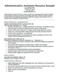 Executive Assistant Resume Cover Letter Sample Administrative ...