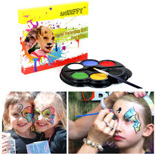 details about dress up party body painting kit funny face makeup supplies 6 colors