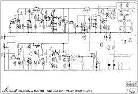 marshall schematics pre amp schematic 6x ecc83 issue 3 marshall 1986