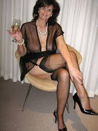 Sexy old women in black
