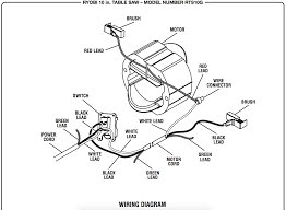 Wiring diagram for table saw motor